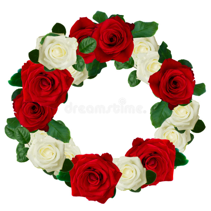 Free Red And White Roses Wreath Stock Photo - 44128870