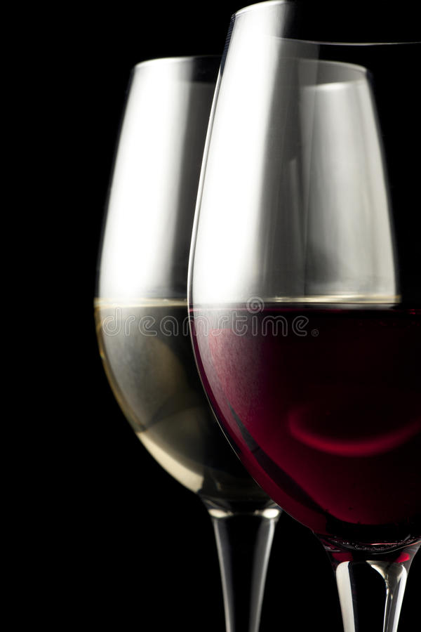 Free Red And White Wine Glasses Royalty Free Stock Photo - 14894745