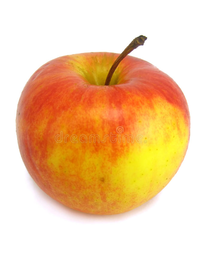Free Red And Yellow Apple On The White Background Stock Photography - 12247942