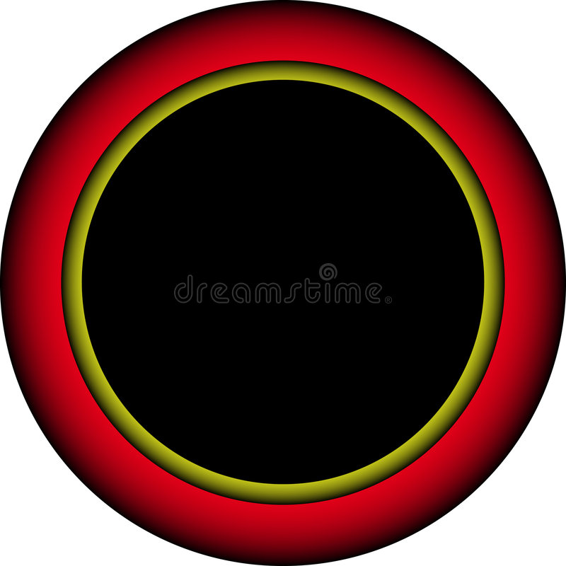 Free Red And Yellow Glowing Border Royalty Free Stock Photos - 3209738