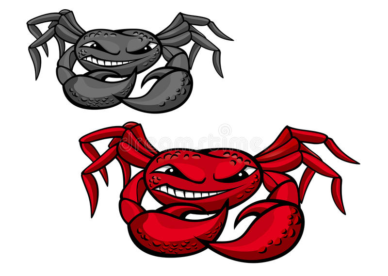 Download Red angry crab with claws stock vector. Image of cardinal - 21096741