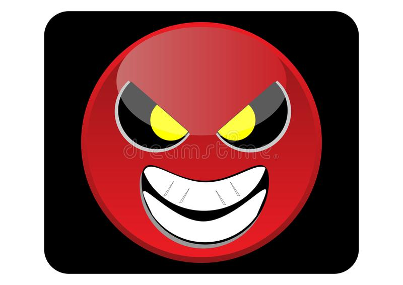 Red Angry Icon or Emoticon royalty free stock image