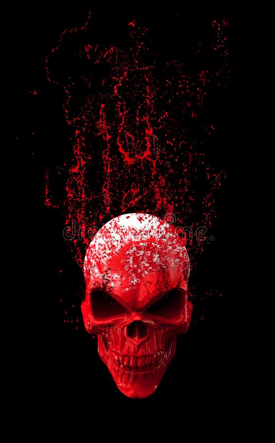 Free Red Angry Skull - Disintegrating Royalty Free Stock Photography - 124377067