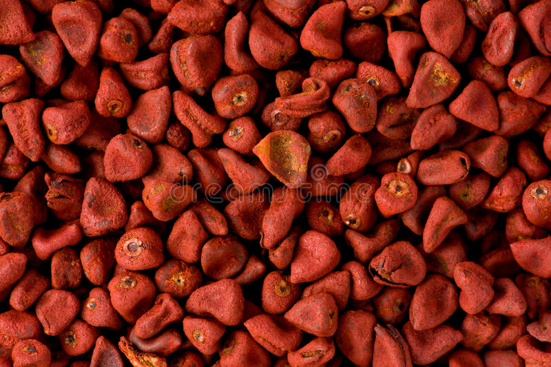 Red Annatto Seeds (Bixa Orellana) Stock Image