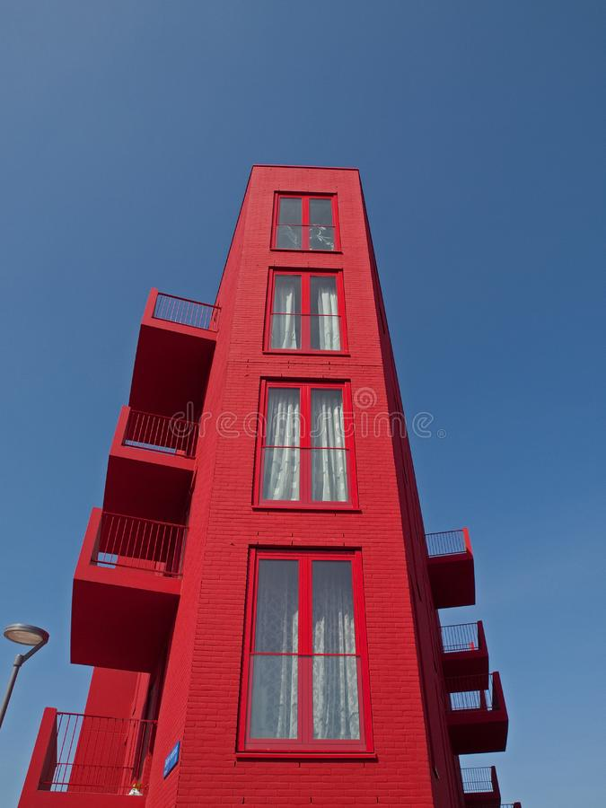 Download Red apartments stock image. Image of life, houses, almere - 14096167