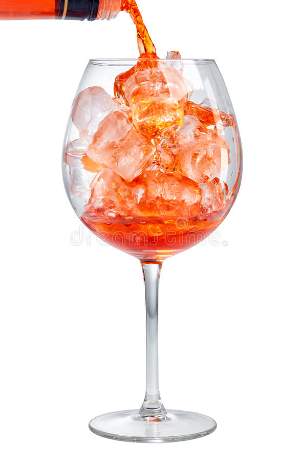 Free Red Aperitif Pouring Into Glass Royalty Free Stock Photography - 92903067
