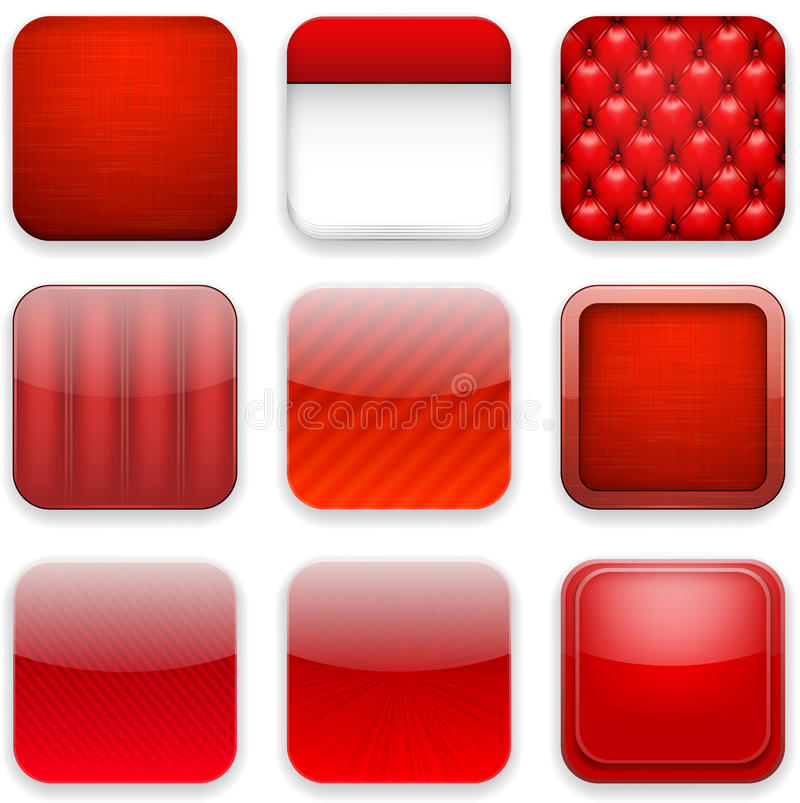 Free Red App Icons. Stock Image - 32613151