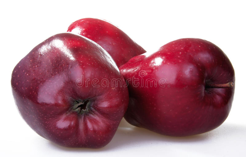 Download The red apple stock photo. Image of dark, white, apple - 17908882