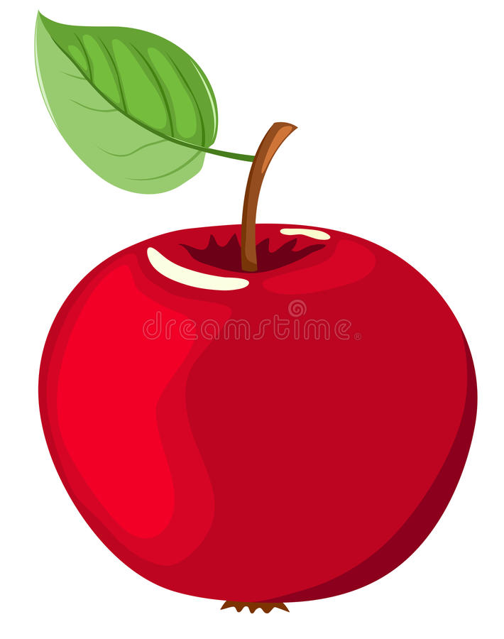 Download The red apple. stock vector. Image of cartoon, drawing - 18000333