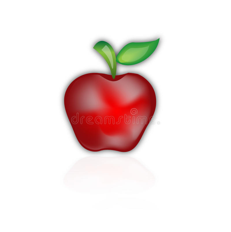 Download Red apple stock vector. Image of symbol, bright, healthy - 23864247