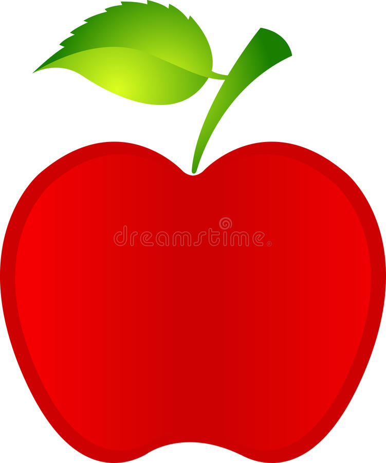 Download Red apple stock vector. Image of line, health, leaf, design - 27005893