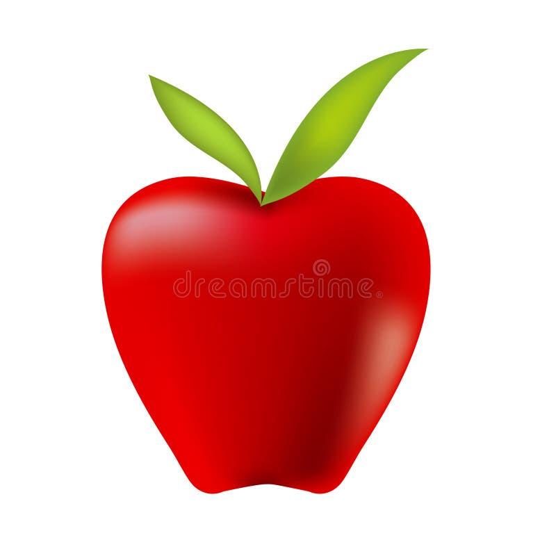 Red Apple. Red appe Illustration stock illustration