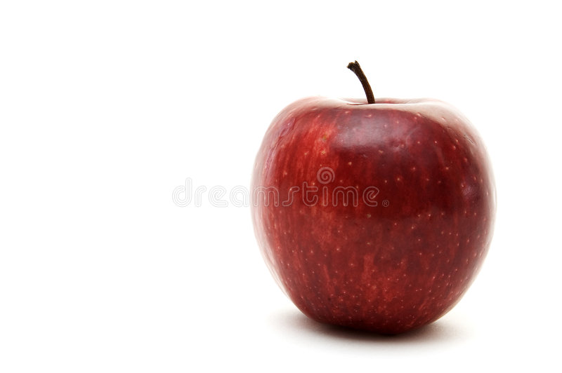 Download Red Apple stock photo. Image of stalk, natural, juicy, skin - 85642