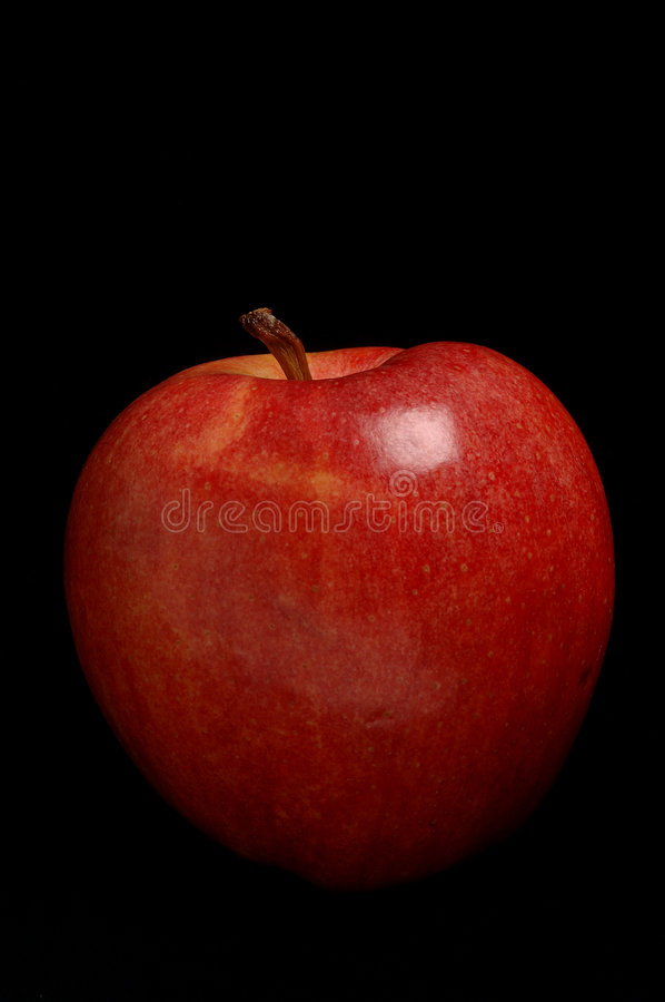 Download Red Apple On Black Royalty Free Stock Image - Image: 1531076