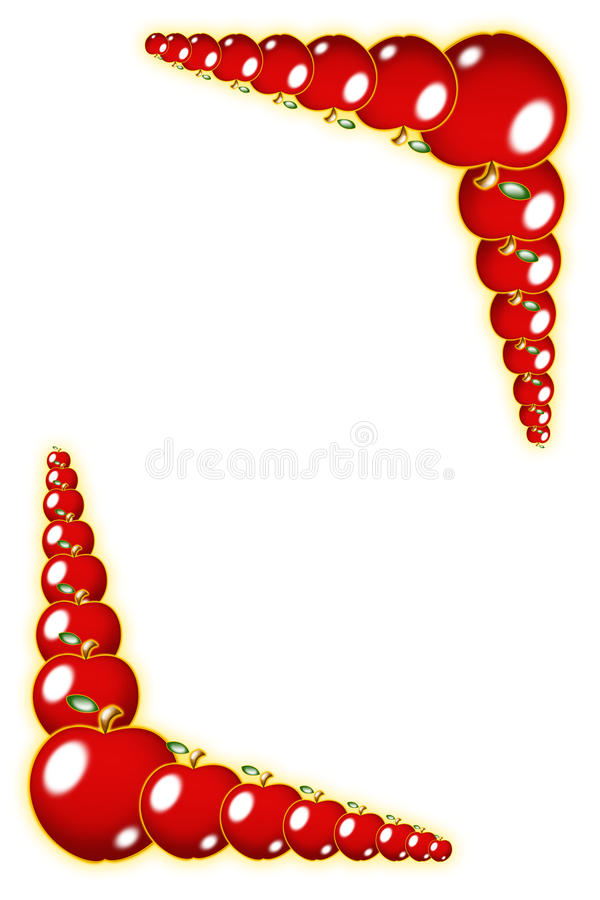 Download Red apple border stock illustration. Image of texture - 12980849