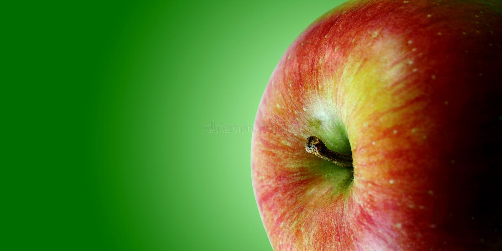 Red apple brochure royalty free stock photography