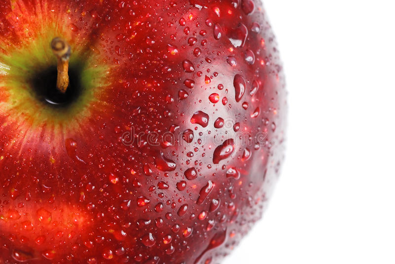Download Red Apple Covered With Drops Of Water Stock Image - Image: 13028439