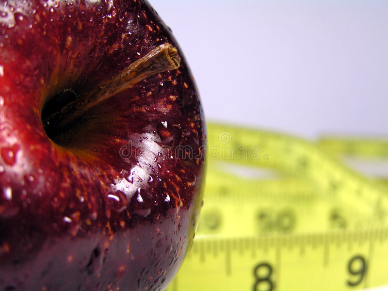Red apple diet stock photography