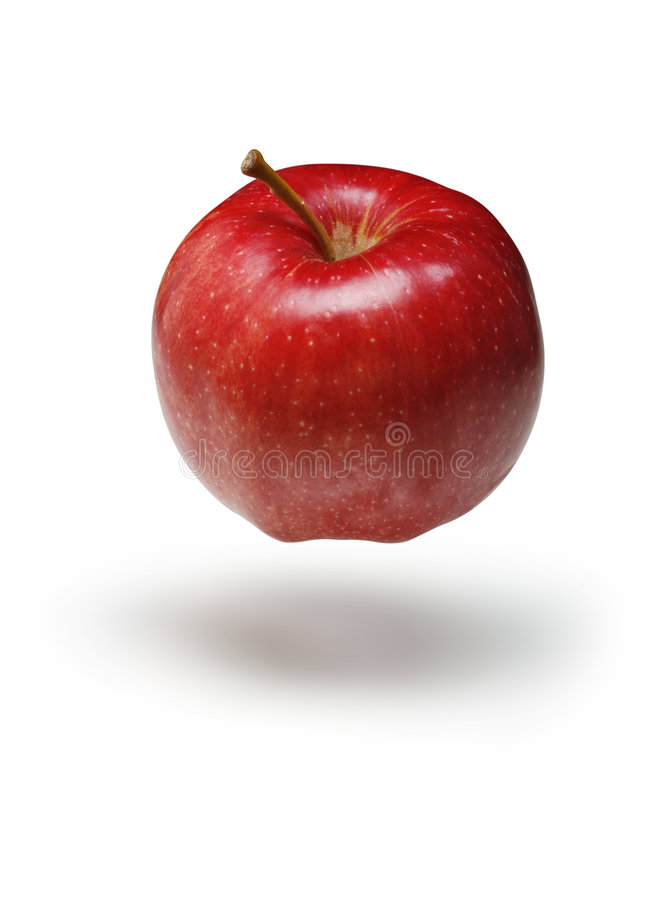 Download Red Apple Floating stock image. Image of produce, ripe - 7672085