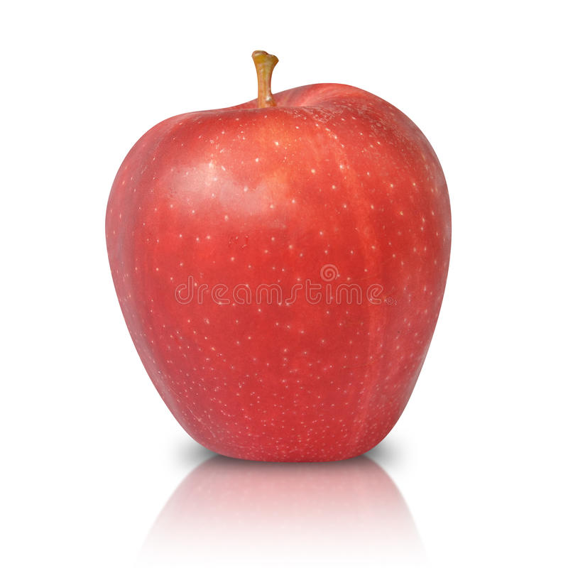 Red Apple Fruit Isolated royalty free stock image