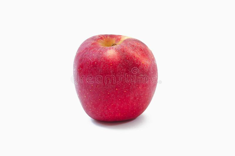 Red apple fruit on white background , isolate style.  stock photography