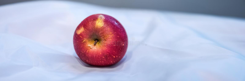 Red Apple Fruit On White Textile Free Public Domain Cc0 Image