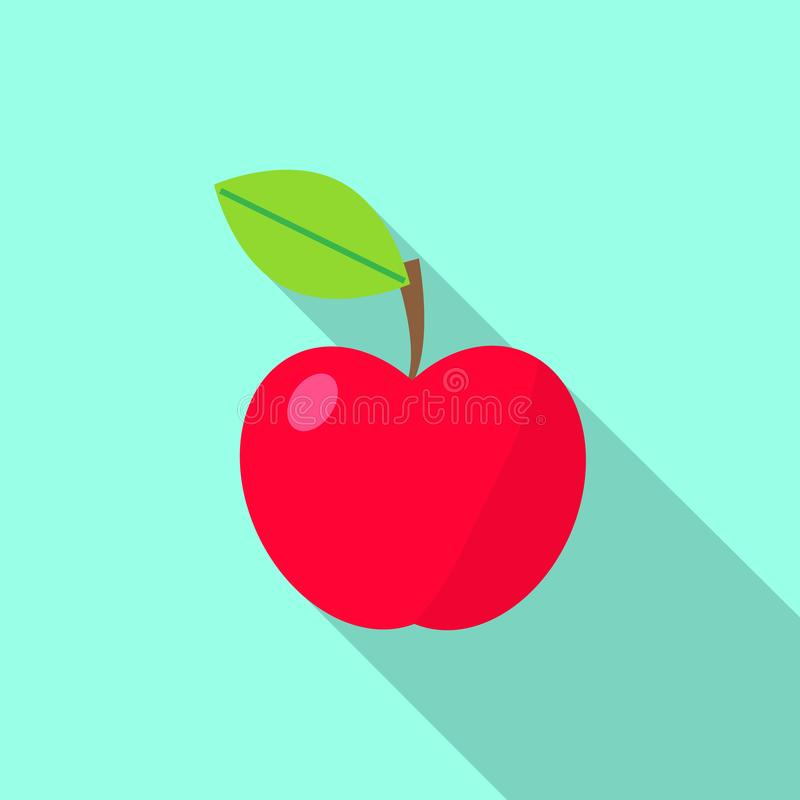 Red apple icon stock illustration