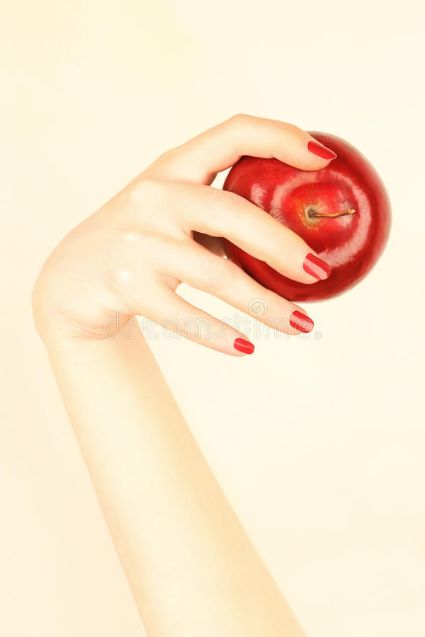 Free Red Apple In The Hand Stock Image - 14965841