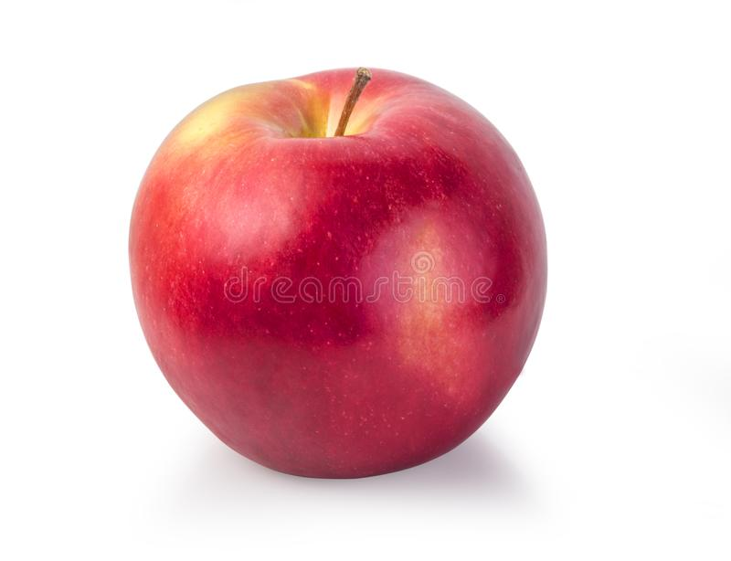 Red apple isolated. On white with clipping path stock image