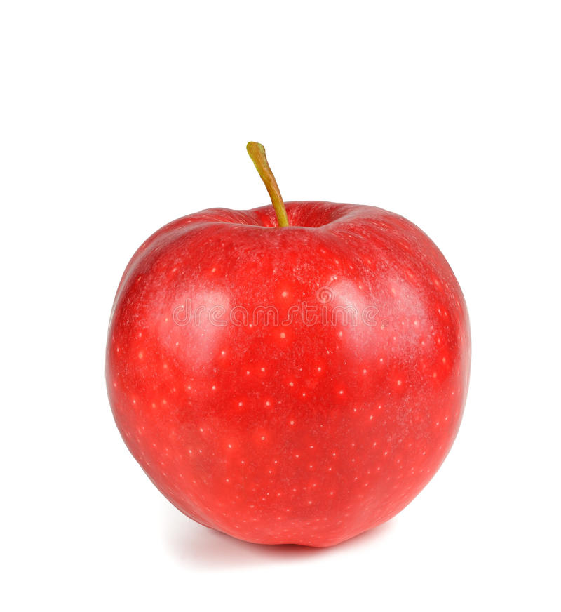 Red apple isolated. On white stock images