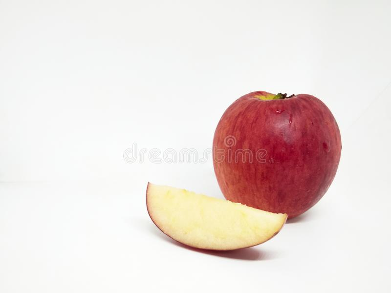 Red apple isolated on white background, close up apple, Ripe apple stock image