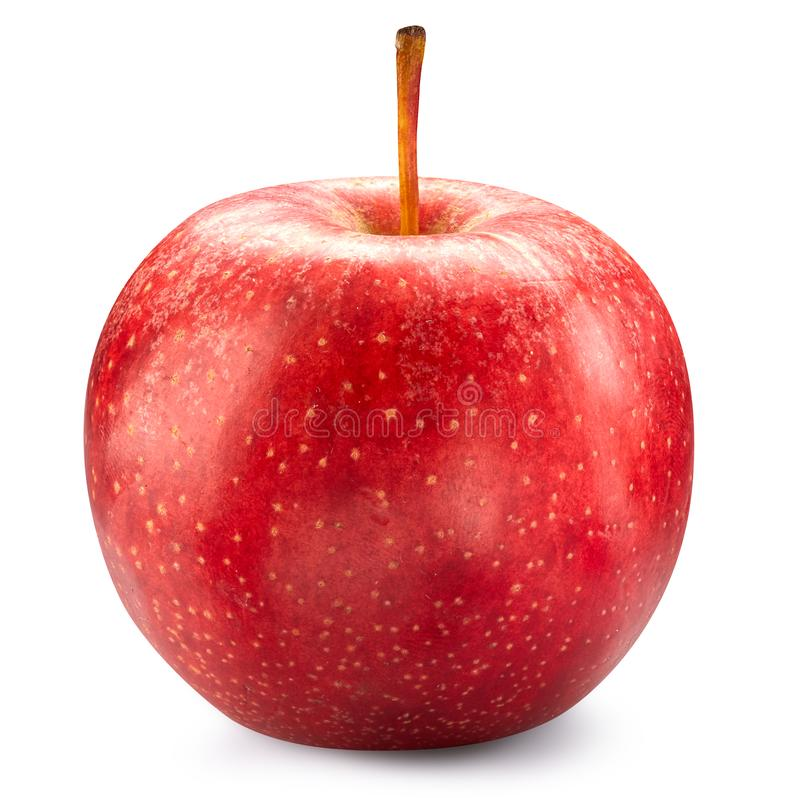Red apple isolated on white royalty free stock image