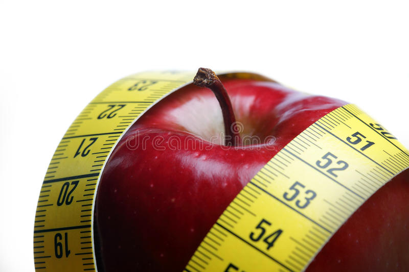 Download Red apple with measurement stock photo. Image of measure - 22496110
