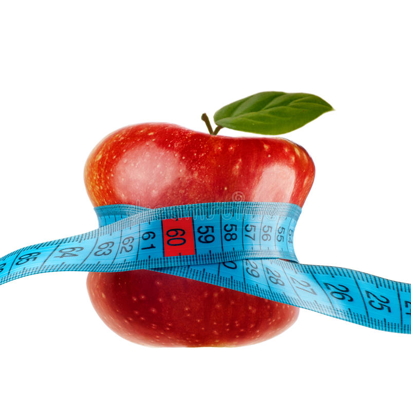 Download Red Apple With Measurement Isolated On White Stock Image - Image: 23633101