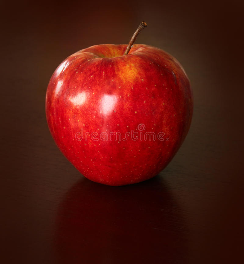 Free Red Apple On Black Stock Photography - 12208872