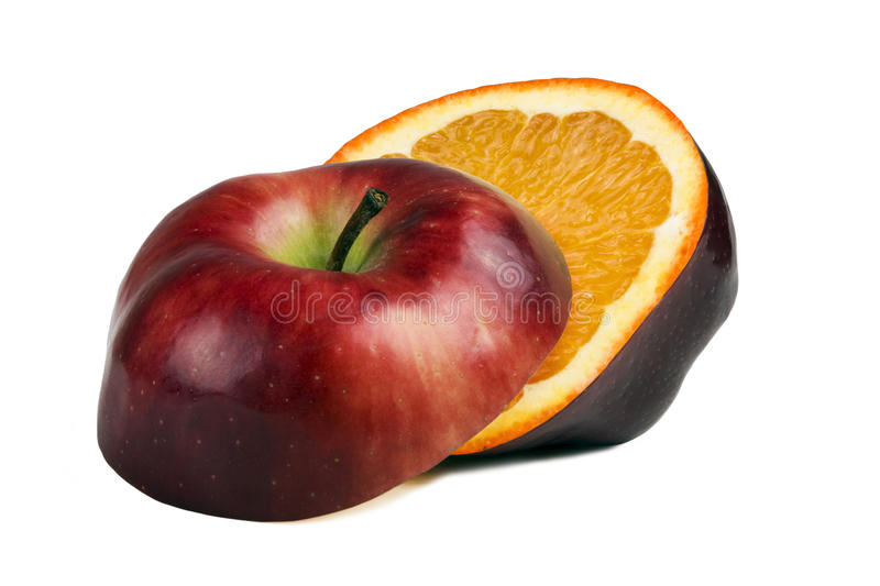 Download Red Apple With Orange Inside Stock Image - Image: 13034671