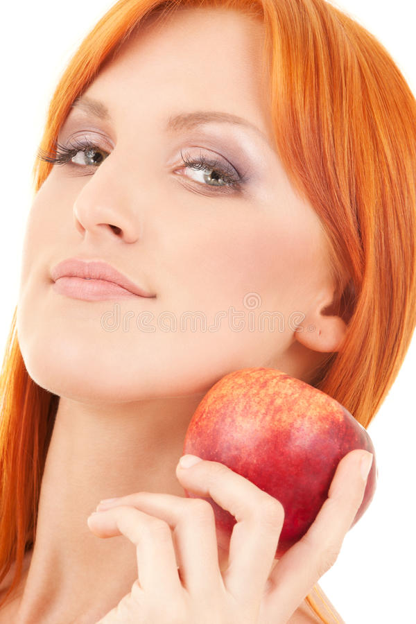 Download Red apple stock image. Image of fresh, looking, harmony - 41480643