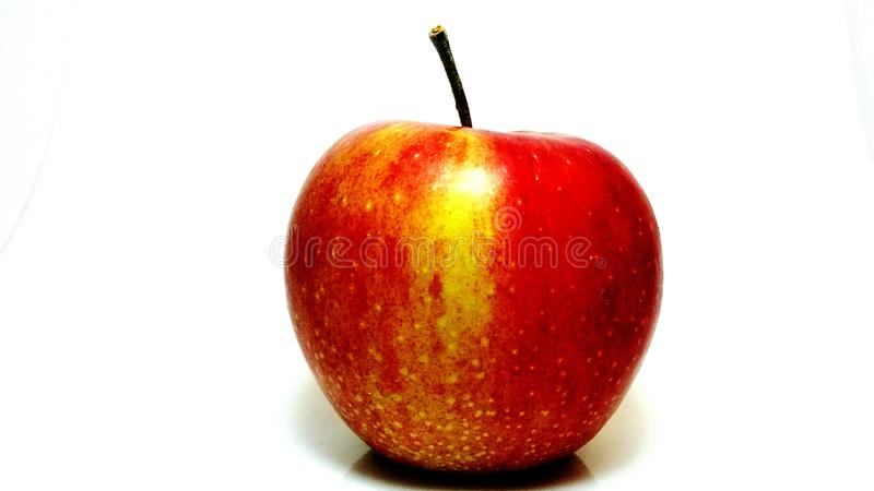 Red apple studio shot wide angle stock photo