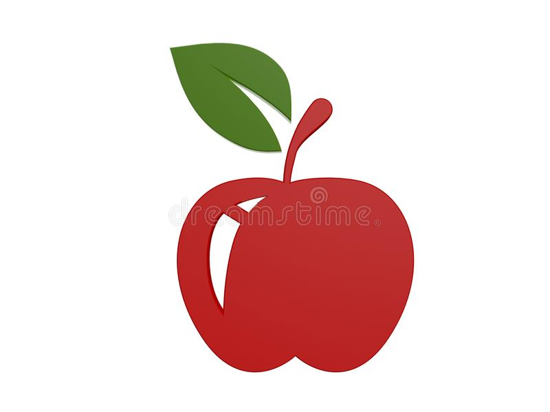 Download Red apple symbol stock photo. Image of green, health - 33658146