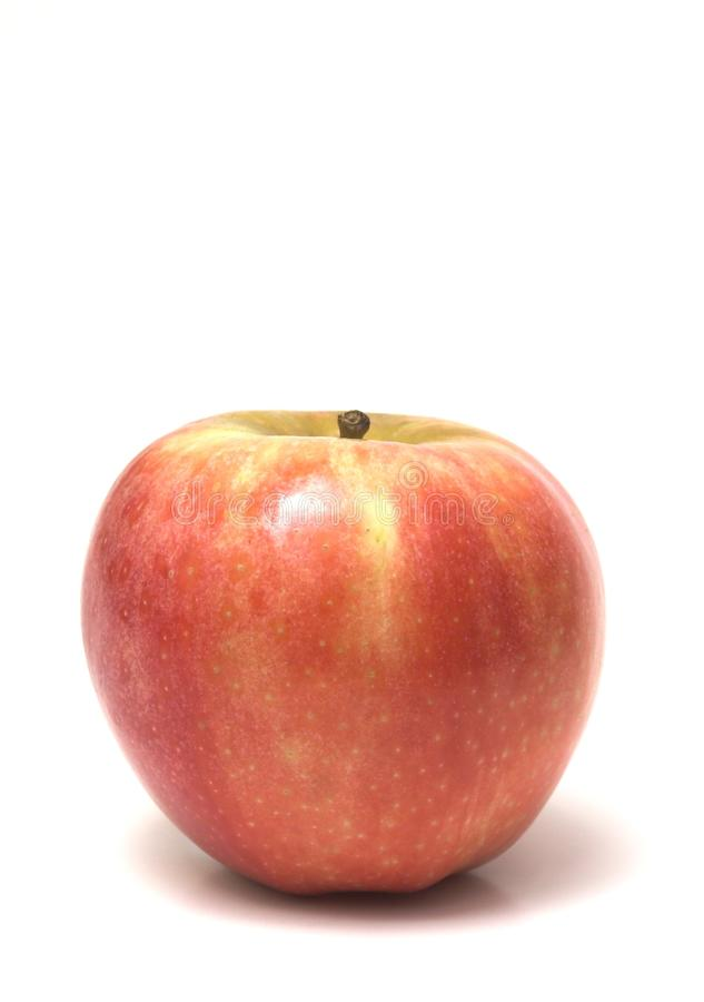 Red apple tall stock photo