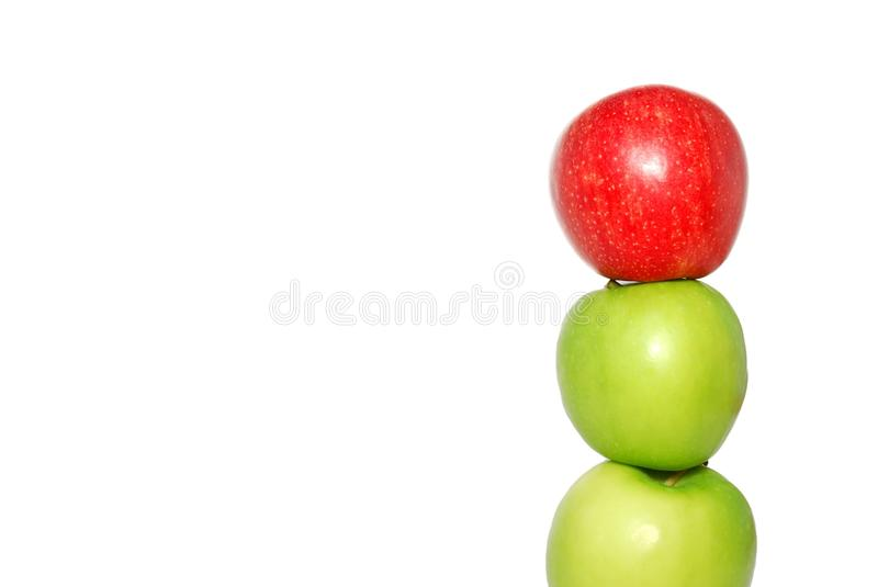 Red apple at the top of the pile royalty free stock images