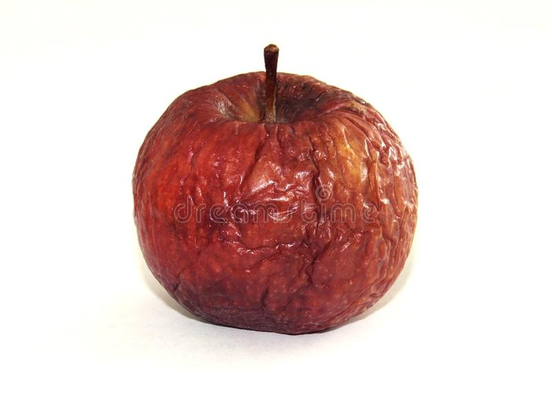 Red apple on white backgraund stock photo