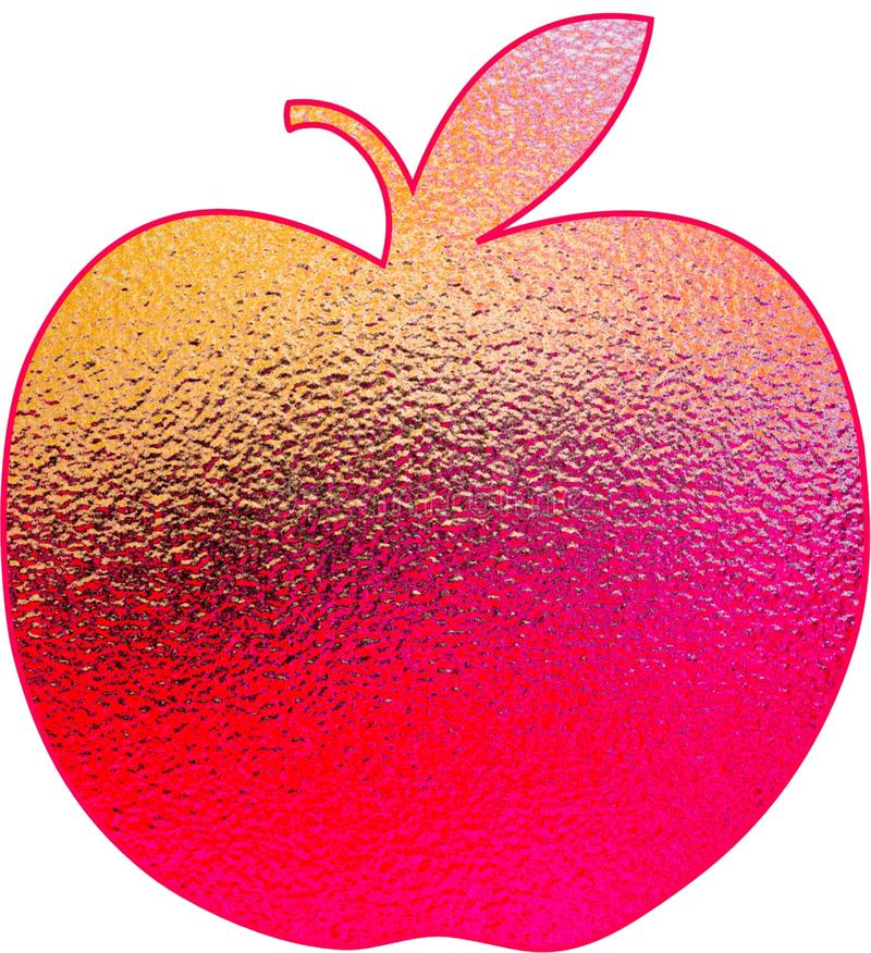 Red apple on white background stock images