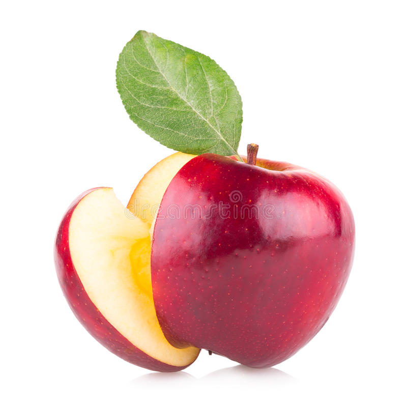 Free Red Apple With A Slice Stock Photography - 45153602