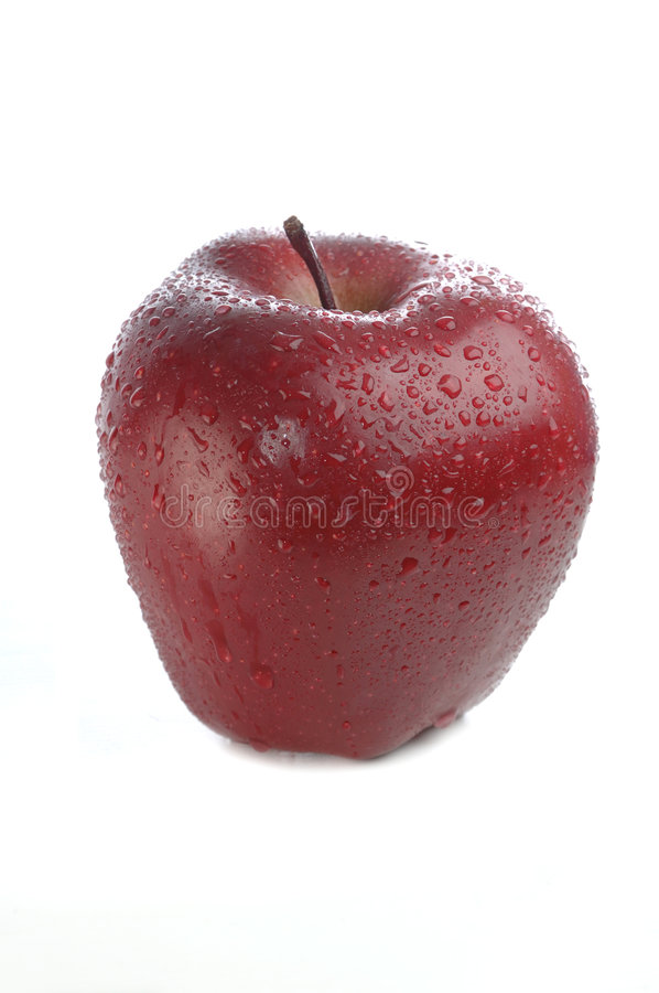 Free Red Apple With Water Drops Stock Images - 1461144