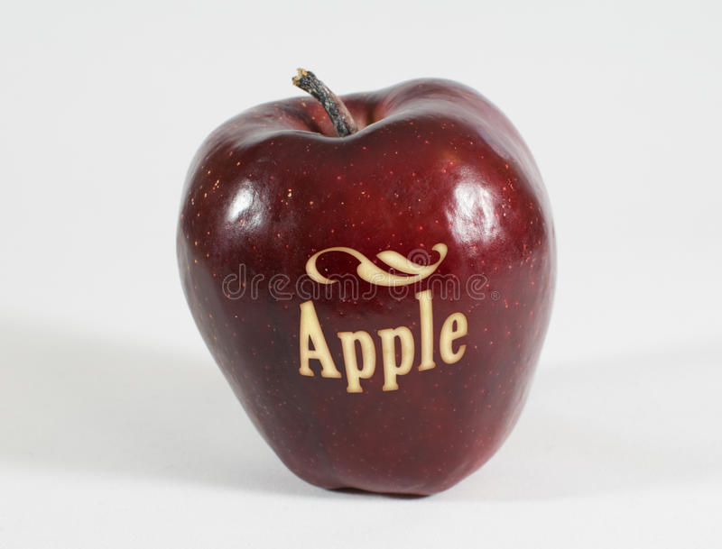 Download Red Apple With The Word - Apple - Stock Photo - Image: 83707468