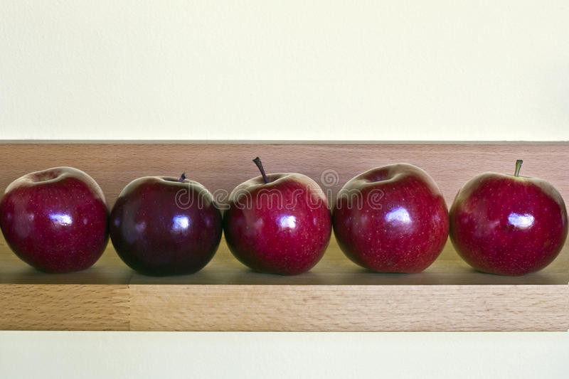 Download Row of apples stock photo. Image of nature, healthy, juicy - 13655102