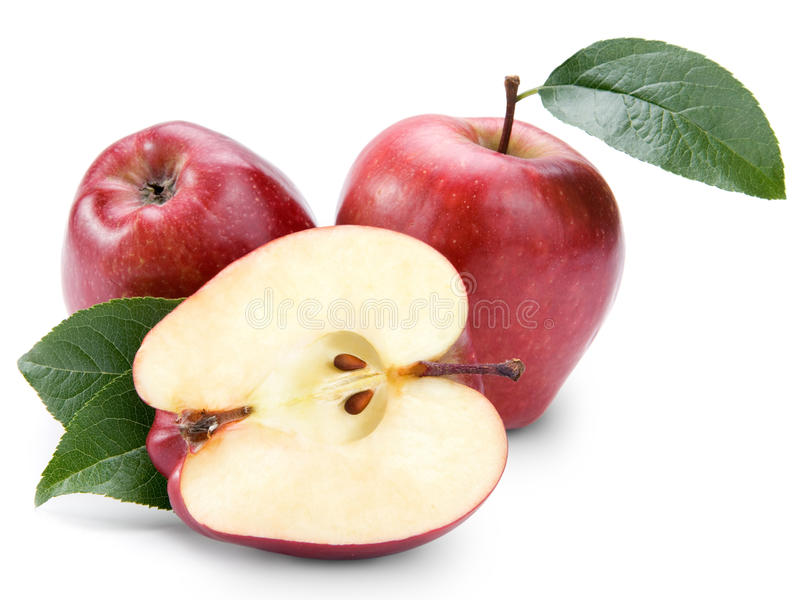 Red apples stock image