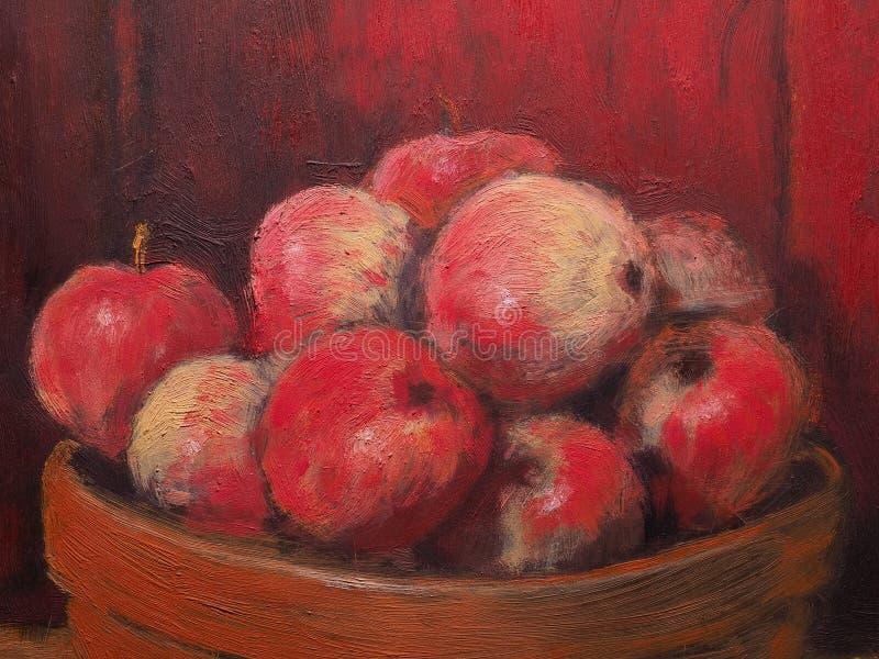 Hand Painted Apples Enamel Square Bowl