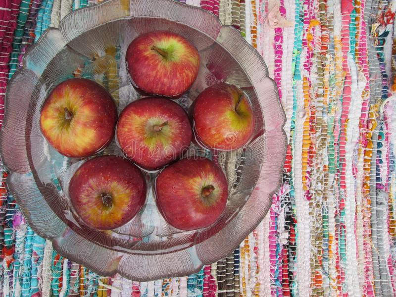 Red Apples In Bowl Of Water. royalty free stock photos